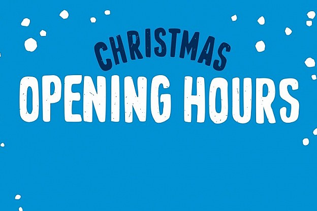 Christmas Hours.Christmas Opening Times